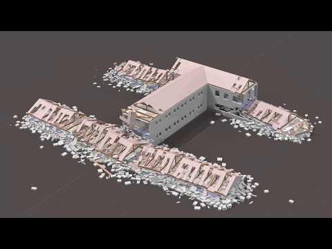 Masonry Barracks Earthquake Simulation #2 Full Building (BCB, FP7, INACHUS)