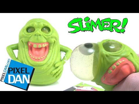 Squishy Dan Slime : Ghostbusters Slimer Squishy Eyeball Popping Slime Ghost Toy Video Review: Free Video and related ...