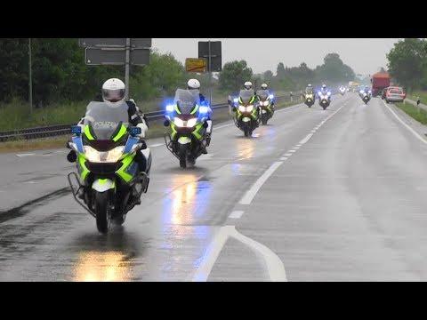 Polizeieskorte BundesprГsident Steinmeier im tiefsten Ostfriesland