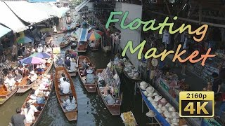Ratchaburi Thailand  city photos gallery : Damnoen Saduak Floating Market (Ratchaburi) - Thailand 4K Travel Channel