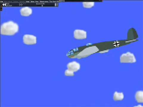 Phun Destructible Aeroplane (He-111)