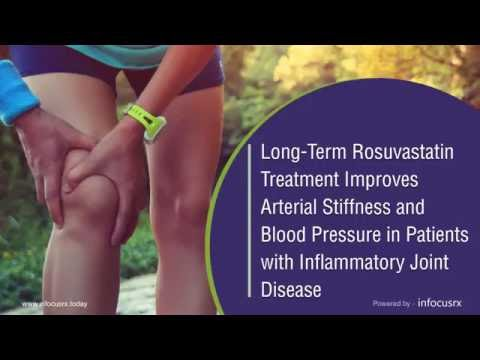 Rosuvastatin  Improves Arterial Stiffness and Blood Pressure in Case of Inflammatory Joint Disease