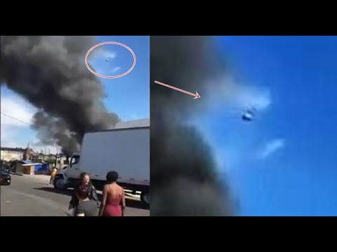 MBC News shows an unknown object hovering in the sky whilst covering an event in Los Angeles