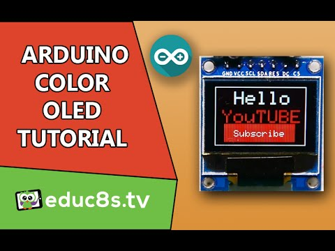 Arduino Tutorial: Color OLED SSD1331 display with Arduino Uno from Banggood.com