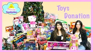 Toys for Kids! Huge Toys Donation with  Princess ToysReview Toy Drive