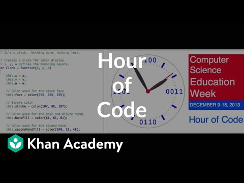 Welcome to our hour of code video khan academy ccuart