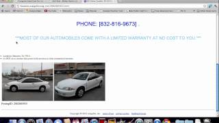 Craigslist Houston Used Cars - How to Search for Used Trucks and SUVs