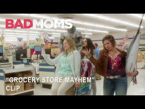 "Bad Moms   ""Grocery Store Mayhem"" Clip   Own It Now on Digital HD, Blu-Ray & DVD"