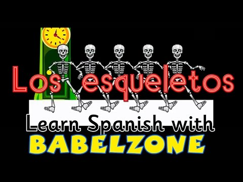 esqueleto - The LCF Clubs-Babelzone at http://www.lcfclubs.com/babelzone adaptation of the Costa Rican song. A good tool to practice time and simple actions with young l...