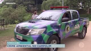 MP apura descarte irregular de dejetos em lagoa de Sorocaba