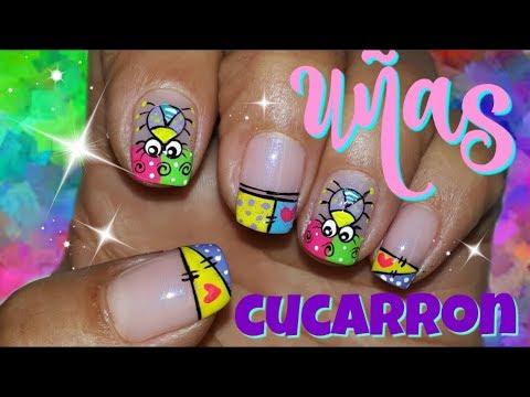 Decoracion de uñas - Decoración de Uñas Cucarron/Uñas Bichitos/Uñas Lindas