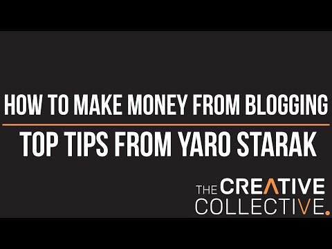 [How to make money from blogging] – Top tips from Yaro Starak