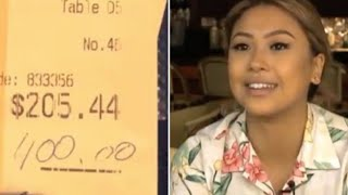 Video A Couple Left This Waitress A $400 Tip  But What They Did When They Returned Blew Her Away MP3, 3GP, MP4, WEBM, AVI, FLV Agustus 2018
