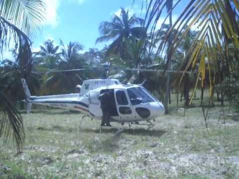 Helicóptero da Polícia pousa em Senador Georgino Avelino