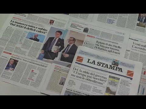 Italiens Regierung stellt den neuen Haushaltsplan v ...