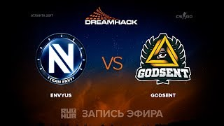 EnVyUs vs Godsent - DreamHack Open Atlanta 2017 - map 2 - de_cobblestone [MintGod , sleepsomewhile]