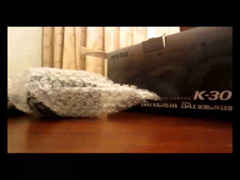 Pentax K-30 unboxing