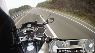 9. BMW K1600GTL 0-100km/h , 0-200km/h onboard helmet cam movide vid