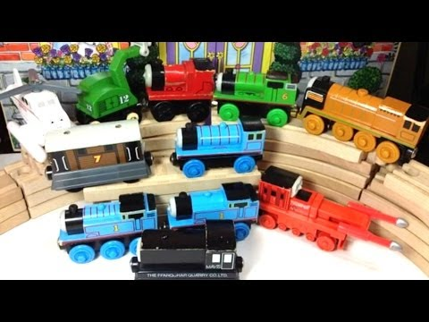 Thomas - https://www.youtube.com/watch?v=_E2Sd9IaLfo&list=PLycXYG7ngZnmBVAs8Mld3YckYameThr8f This video is about Thomas and friends Wooden Engines Toby, Percy, James,...