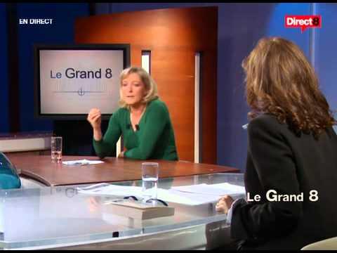 Le Grand 8 avec Marine Le Pen le 27/01/2007 (видео)