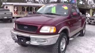 1998 FORD F-150 LARIAT 4X4 STEPSIDE FOR SALE LEISURE USED CARS 850-265-9178