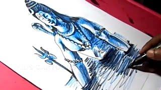 How to Draw Lord Shiva Meditation Ganga Drawing