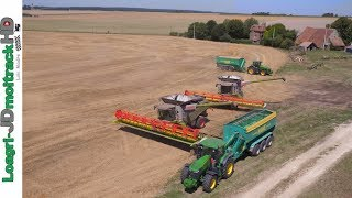 Titre ; XXXL Harvest in France with 2 780 TT & V1230 + 2 Hawe !!! Description : Énorme chantier de moisson en France, avec 2 ...