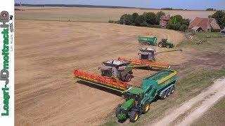 Titre ; XXXL Harvest in France with 2 780 TT & V1230 + 2 Hawe !!! Description : Énorme chantier de moisson en France, avec 2...