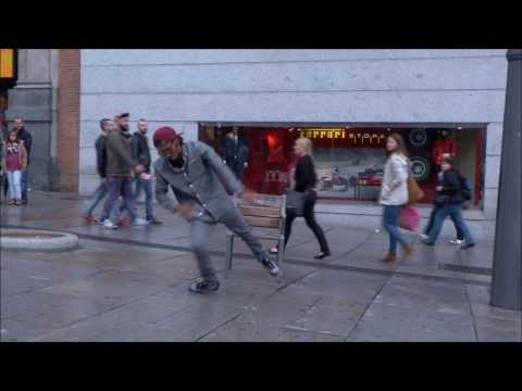 Incredible dancer. Looks like hes ice skating