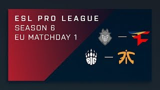 CS:GO - G2 vs. FaZe - Map 1 [Cache] - Day 1 ESL Pro League S6 - EU Main Stream