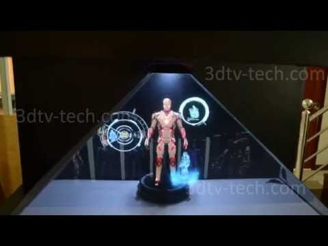 How to make an Iron Man action figure the center piece of a room? Project some holograms on top of it!