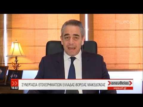 Ο Κ.Μίχαλος για τη συνεργασία επιχειρηματιών Ελλάδας-Β.Μακεδονίας | 04/04/19 | ΕΡΤ
