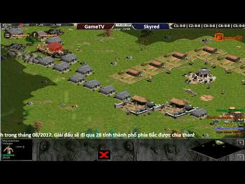 AOE | 4vs4 Random GameTV vs Skyred ngày 06/ 09/ 2017.BLV: G_Man