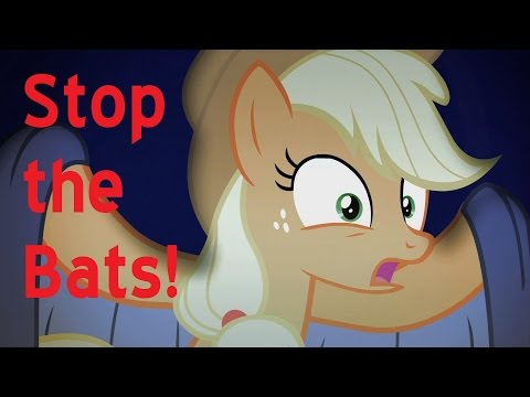 version - Ever wish ponies just sang what was happening in the video? Well now they do, in this 10th installment of pony literal videos. Stop the Bats! by Applejack, Fluttershy and company. All editing,...