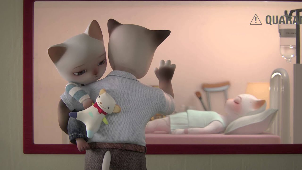 Trois Petits Chats 3D Animated Short Film