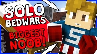 THE BIGGEST NOOB IN BEDWARS!? | Minecraft Minigame | SOLO BEDWARS