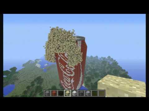 Minecraft COLA + MENTOS Explosion !!? видео