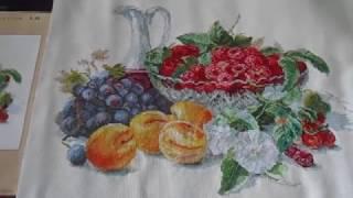 Абрикосы и малина, Готовая работа