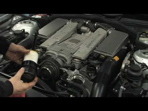 benzwerks SL55 AMG  MERCEDES oil change