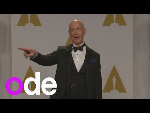 J.K. Simmons wins best supporting actor: Hilarious winners' press conference