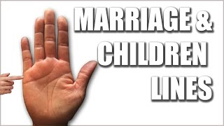 """Please watch: """"CHILDREN & MARRIAGE LINES Male Palm Reading Palmistry #146"""" https://www.youtube.com/watch?v=AOY4nZmF8wA-~-~~-~~~-~~-~-Marriage LinesThese lines of affection, also known as lines of relationship, will reveal our past, present, and future love. They do not always correspond with marriage or the equivalent but can be found whenever there is a close bond between two people. All the relationships you'll have your entire life will appear on the pinky side of your right hand, just below the pinky finger as small horizontal lines. The more defined and prominent these lines the stronger the emotional bond will be. Characteristics related to change in these relationships will appear in the palm of the nondominant hand on the Fate line.Children LinesChildren will show as vertical lines that intersect the relationship lines. These lines will echo the emotional bond, not only with biological children but with adopted, stepchildren, nieces or nephews. Any child that we've built a strong emotional bond with.The child's health will be mirrored in the parents' hands, because the parent will take on the energy of that child, thus creating lines of energy in the parent's hands.GET A HAND/PALM READING: https://goo.gl/NzTwnESUBSCRIBE: http://goo.gl/HkaCq6     WEBSITE: http://goo.gl/mE7gmILEARN TO READ PALMS: https://goo.gl/73kxLxLines, configurations, and markings are explained in this new series. Revealed through Hand & Palm Readings & Analysis - Palmistry.MARRIAGE & CHILDREN  Female Palm Reading Palmistry Kat Anders has a Masters Degree in the Health Sciences, a Bachelors Degree in music and has performed over 6000 hand readings for well over 35 years.Video produced by BLACK STONE ENTERTAINMENT. Copyright. All Rights Reserved"""