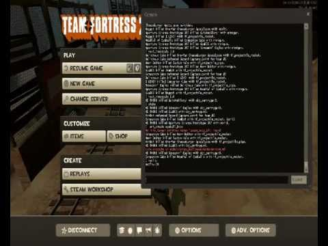 Team Fortress 2 Console Cheats Part 1