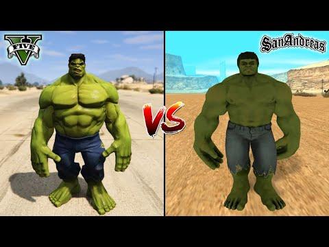 GTA 5 HULK VS GTA SAN ANDREAS HULK - WHO IS BEST?