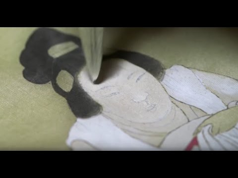 How a Chinese Silk Painting was Made