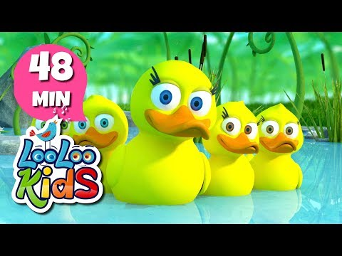 Five Little Ducks - THE BEST Nursery Rhymes and Songs for Children   LooLooKids