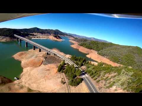 drought - A low flight Saturday, October 4, 2014, showing the dire conditions of the state's first- and third-largest reservoirs. May rain and snow return soon...