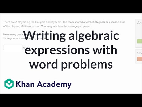 Writing Expressions Word Problems Video Khan Academy