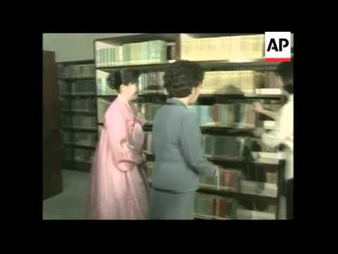 South Korea's first lady tours North Korean facilities; meets female leaders