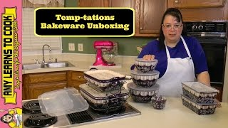 Temp-tations Bakeware Floral Lace Unboxing ~ Amy Learns to Cook