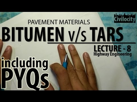 Difference between Bitumen and Tars | Lec-8 | GATE